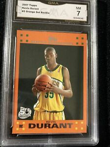 2007 08 Kevin Durant Topps ORANGE ROOKIE CARD #2 Enlarge 12 Photos certified NM $119.00