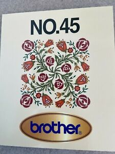 Brother Machine Embroidery Card No. 45 Floral Borders Corners Accents PES $50.00