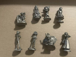 MONOPOLY Disney Edition 2001 Board Game Pewter Pieces Tokens $50.00