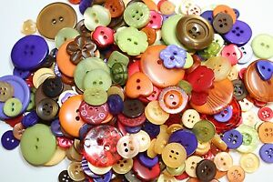 Hand Dyed Buttons in BrownWhiteNaturalBlack Grey Lot of 50 ArtCrafts amp;Sewing $6.50
