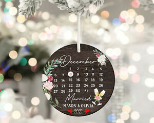 Marriage Ornament Gift Wedding Christmas Gift Christmas Ornament For Newlyweds $10.99