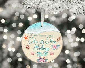 Mr and Mrs Ornament Wedding Christmas OrnamentPersonalized Our First Christmas $10.99