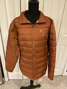 Columbia Women#x27;s Plus Size L Orange Rust Coat Winter Quilted Puffy Jacket $28.95