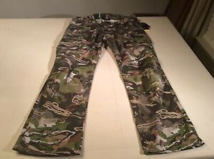 Under Armour Men's NWT Field Ops Forest Camo Hunting Pants Storm Size 40 x 34