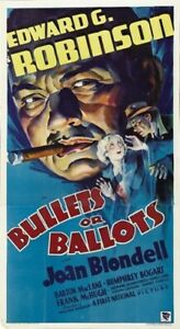 BULLETS OR BALLOTS MOVIE POSTER Rare Hot Vintage