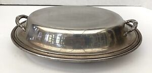 Gorham Sterling Silver Fine Two Handle Cover Dish  MAGNIFICENT
