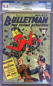 Bulletman #8  CGC  9.4  NM  Universal CGC #0074381013