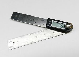 4quot; Digital Protractor Rule iGAGING Electronic Angle Finder Goniometer 7quot; Long $19.95