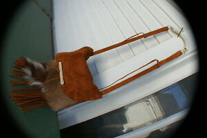 Whitetail deer possibles bag  dbl swede antler handle hand made rendezvous purse