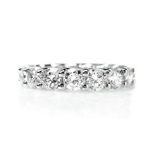4.25 ct F SI ROUND CUT DIAMOND ETERNITY DESIGNER RING