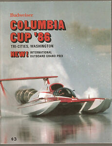 1986 Columbia Cup Unlimited Hydroplane Race Program $14.99