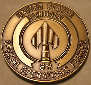 Special Operations Forces Europe Exercise FLINTLOCK 88 Military Challenge Coin