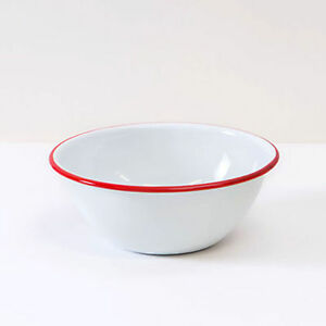 Crow Canyon Home Vintage Style Enamelware Cereal Bowl Salad Bowl Snack Bowl