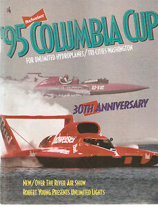 1995 Columbia Cup Unlimited Hydroplane Race Program $7.99