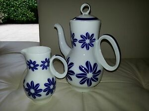 sargadelos coffee or tea pot and creamer