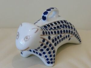 sargadelos animal figurine with a lid