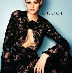 GUCCI TOM FORD MOST AMAZING LACE DRESS '99 AD