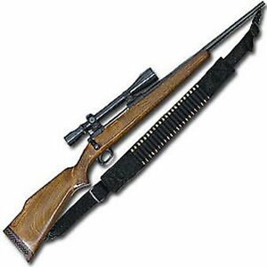 NYLON 15 ROUND MARLIN RIFLE SLING BULLET SHELL BANDOLIER BY ACE CASE - USA MADE