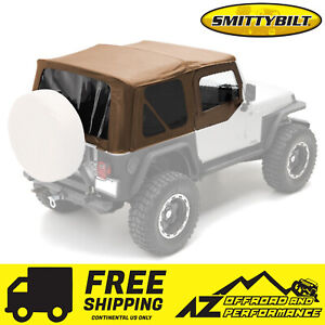 ▪Smittybilt▪ Soft Top wHalf Door Skins for 87-95 Jeep Wrangler ✔FREE SHIPPING