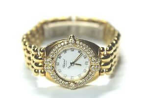Ladies Estate 18k Yellow Gold Diamond Chopard Watch Box & Papers Value $20000+