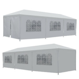10#x27; x 30#x27; BBQ Gazebo Canopy Event Wedding Party Outdoor Tent With Side Walls