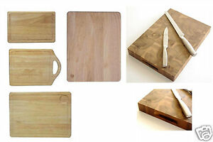 MEAT BREAD PASTRY CUTTING HEVEA WOOD BOARD WOODEN CHOPPING BOARDS KITCHEN NEW