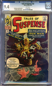 Tales of Suspense #42 CGC 9.4 NM WHITE Pages Universal CGC #1204841001
