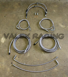 Complete Front & Rear Brake Line Replacement Kit 96-00 Honda Civic wrear drum