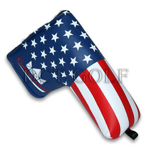 USA GOLF PUTTER COVER Blade Headcover America Flag For Scotty Cameron Ping New $13.21