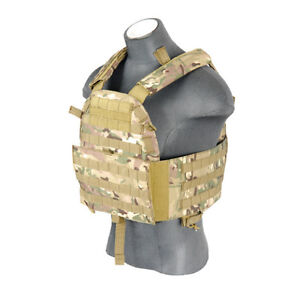 Lancer Tactical Adjustable Airsoft Military Plate Carrier Vest Camo CA-311CN
