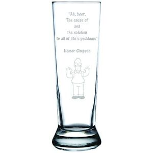 Engraved Personalized Customized Pilsner Beer Glass Designed to Your Specs