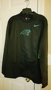 Mens Nike Shield NFL On Field Carolina Panthers football pull over shirt LARGE