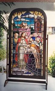 Stained Glass Masterpiece - Authentic Pre-WWII