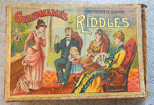 card game grandmama improved game of riddles 1887