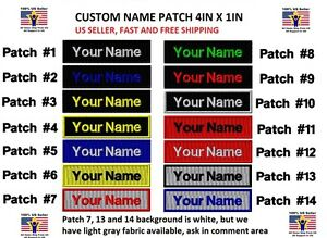 **LOVE IT OR IT#x27;S FREE** Custom NAME TAG Embroidered quot;Iron onquot; Free Shipping
