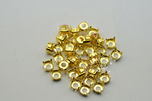 100 PCS 8mm Glass Round Jewels#x27;s Settings For Sewing On Silver Golden $4.51