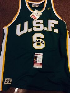 Bill Russell Autographed Shirt JSA Hologram and Coa USF Shirt