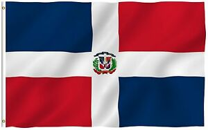 Anley Fly Breeze 3x5 Foot Dominican Republic Flag Dominican National Flags