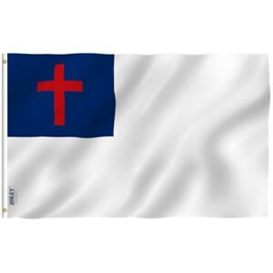 Anley 3x5 Foot Christian Flag Religious Flags Polyester Double Stitched 3 X 5 Ft