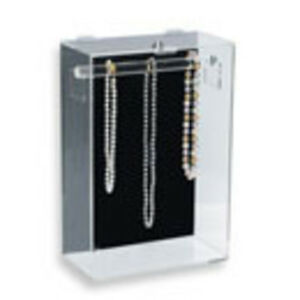 Beautiful THEFT-PROOF NECKLACE DISPLAY CASE Countertop Model ~ QUALITY!