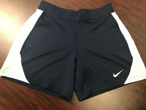 Women's Nike Dri-Fit Respect Gym Shorts NavyWhite Brand New With Tags