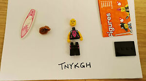 new lego minifigure series 4 8804 surfer girl very