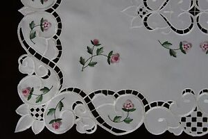 Embroidered Lace Cutwork Placemat Runner Scarf Wedding Party Banquet Event Decor