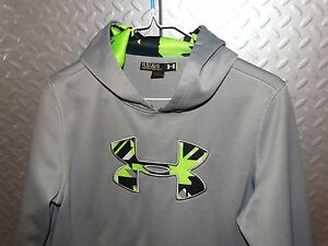 14264 Boys  Girls UNDER ARMOUR Hoodie Sweatshirt ~ Youth L Large loose fit