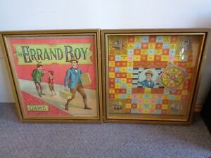 antique board game the errand boy 1900