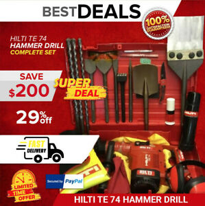 HILTI TE 74 LK PREOWNED FREE HILTI THERMOS LOADED BITS FAST SHIPPING