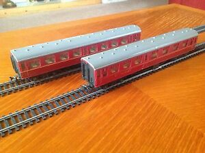 jouef playcraft ho br maroon coaches p455