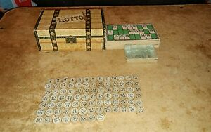 rare mcloughlin brothers trunk lotto game no