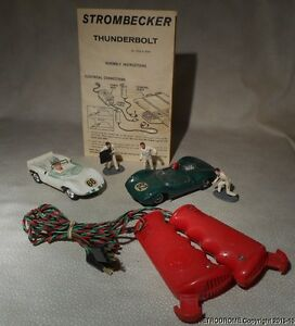 1960s strombecker slot car lot w accessories