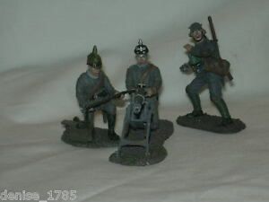 ww1 collection of 3 del prado lead soldiers